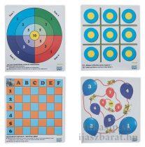 Játékos papír lőlap - 3x 4 játék