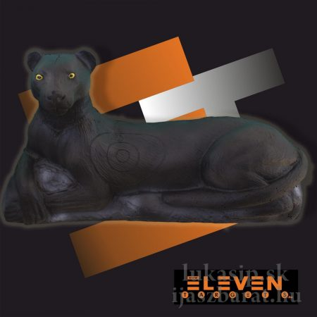3D cél, fekvő párduc – Eleven