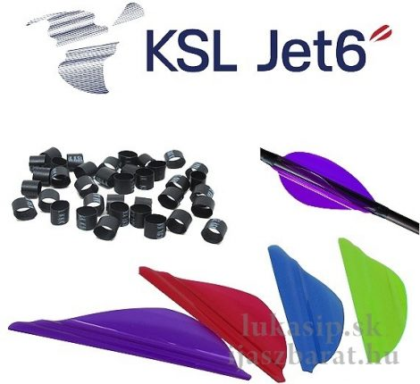 """KSL Jet6 1,75"""",  50 db műanyag toll"""