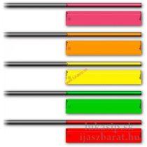 Arrow wraps Socx fluo vesszőmatrica több méretben- 12 db