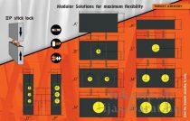 Moduláris Vesszőfogó, 125 x 125 x 20 cm,  Eleven ECO Wave modulok  K+A+K