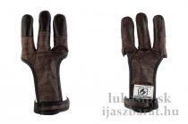 Full finger Brown Buffalo bőr lövőkesztyű