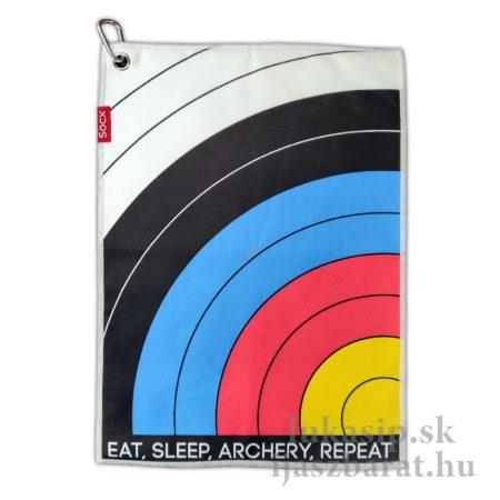 Törlőkendő Socx Eat Sleep Archery 36 x 26 cm