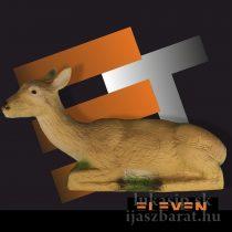 3D cél, fekvő őz – Eleven