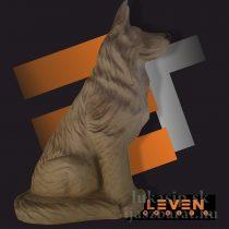 3D cél, ülő farkas – Eleven