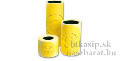 Sárga lőlap matrica 100db
